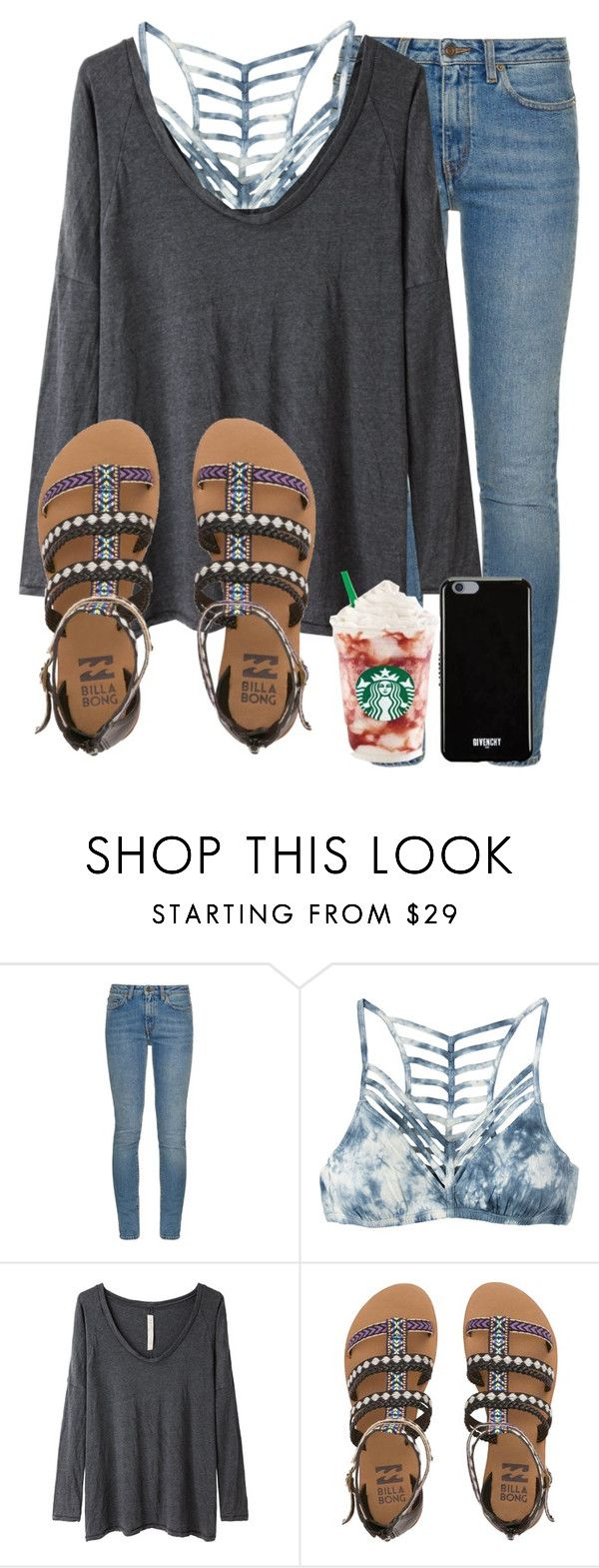 """weekly update in the d🌟"" by madiweeksss ❤ liked on Polyvore featuring Yves Saint Laurent, RVCA, Raquel Allegra, Billabong and Givenchy"