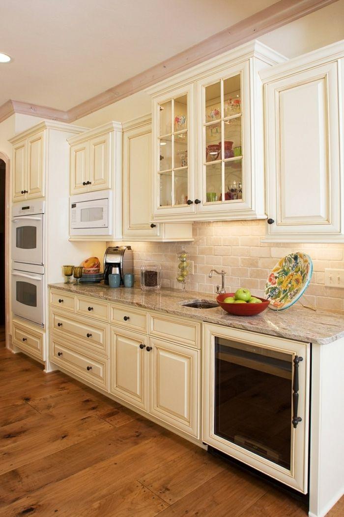 küche streichen ideen in creme mit hölzernem boden Farben u2013 neue - küche streichen welche farbe