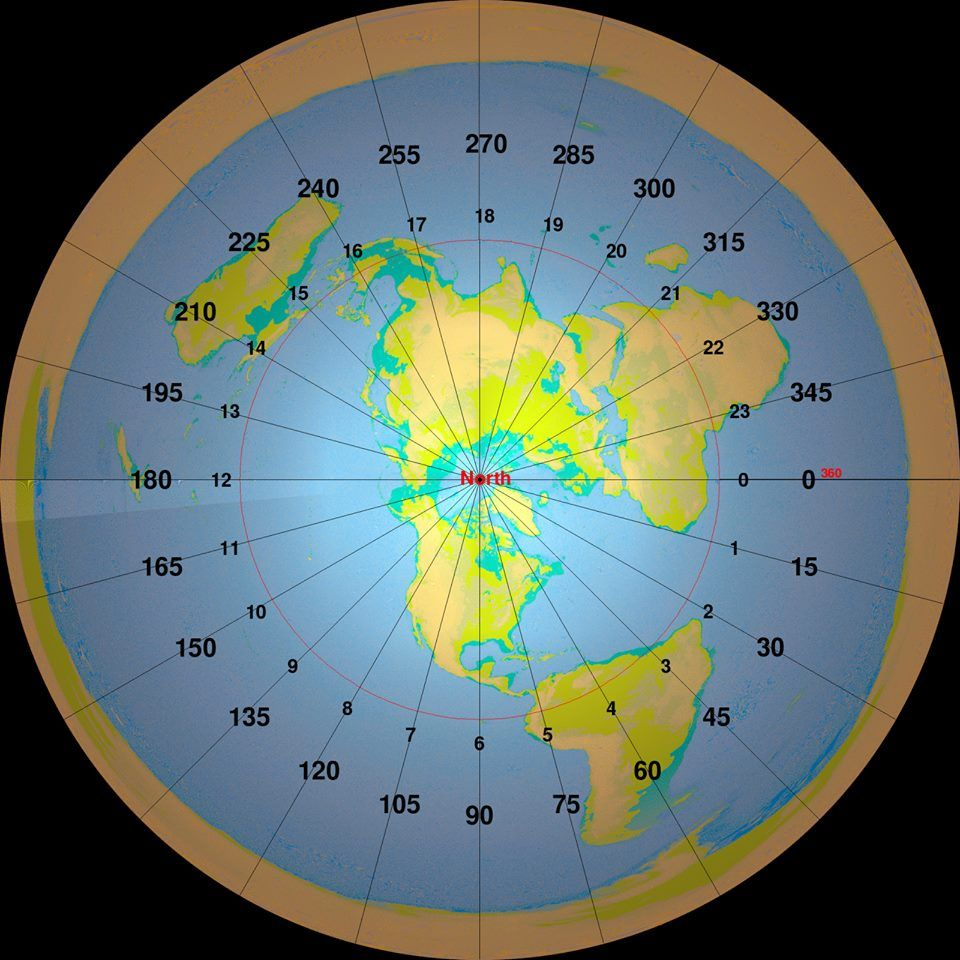 flat map of earth - photo #22