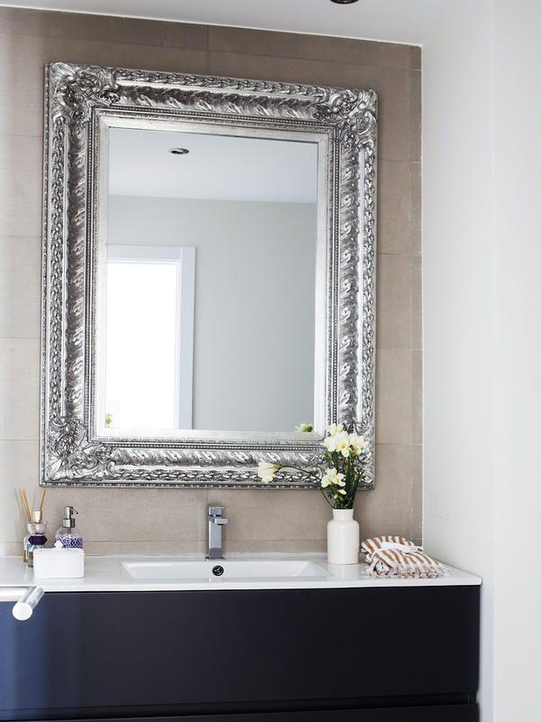 zona de lavabo con espejo plateado - Espejos Plateados