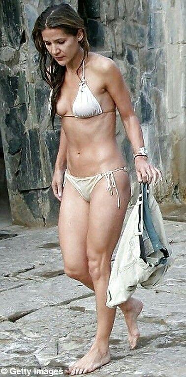 Amanda in black string bikini