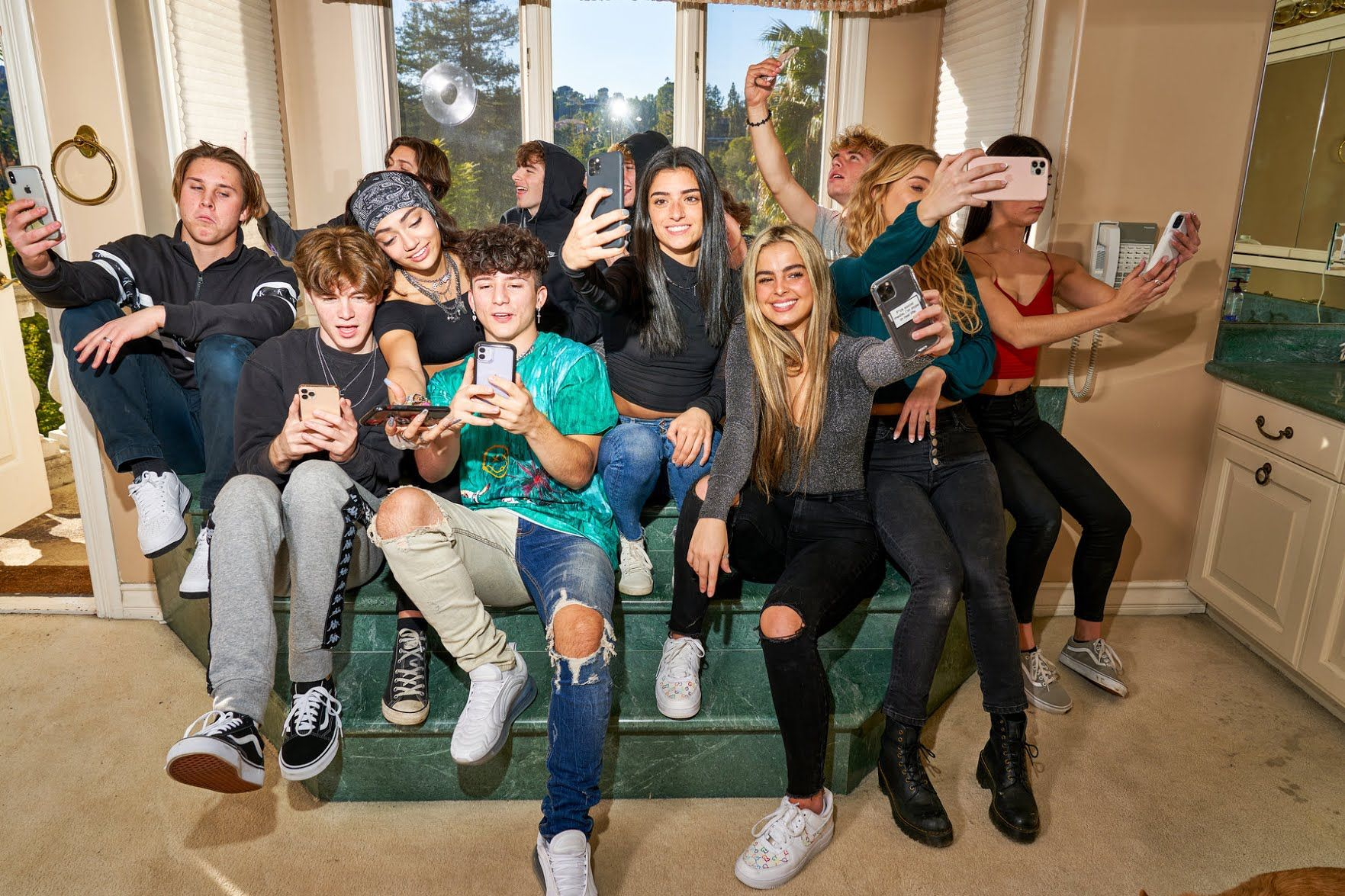 The Hype House Hype Friend Photoshoot Mansions