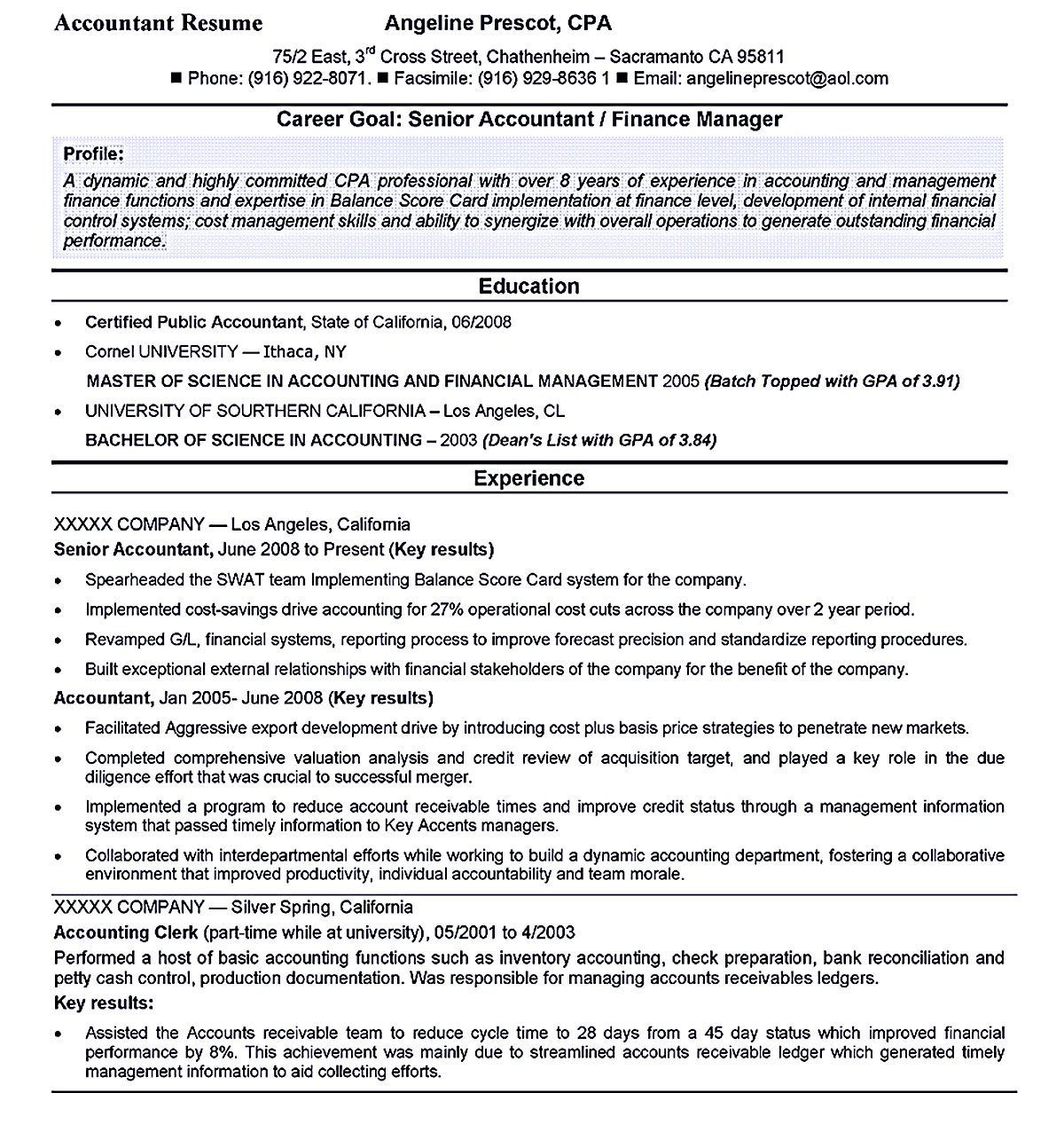 Account Receivable Resume Accountant Resume Template Here Helps You In Boosting Your Career