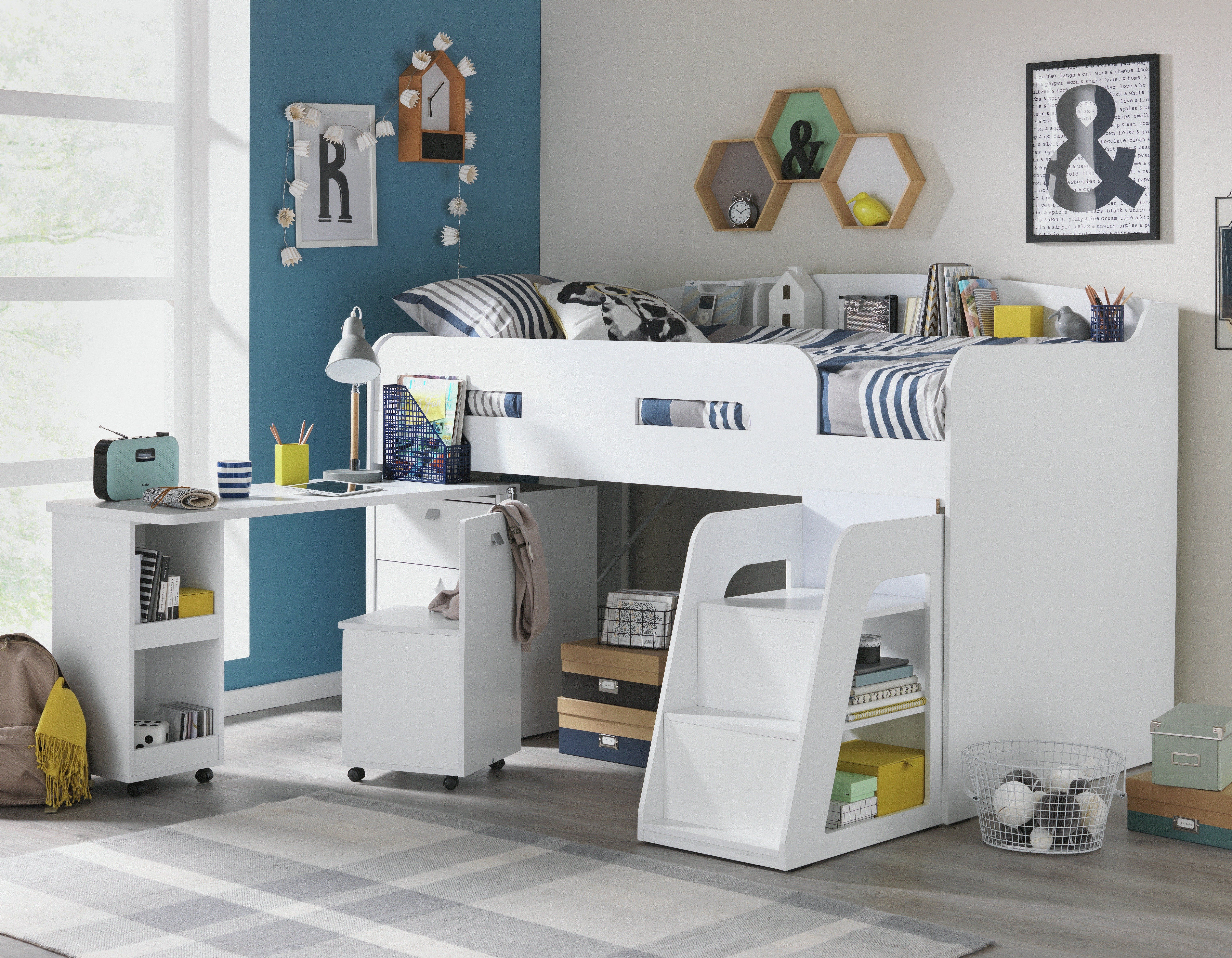 Buy Collection Ultimate Storage Midsleeper Bed - White at Argos.co ...