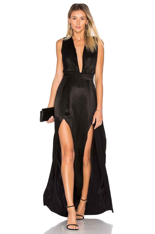 Lovers Friends X Revolve Naomi Gown In Black Evening Stunning