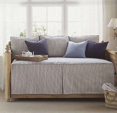 Quick Tip Use Striped Bedding To Define A Daybed Apartment Therapy
