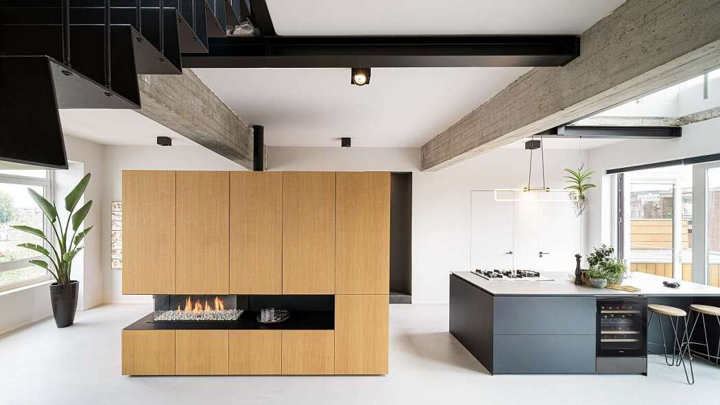 Home Interior Blue CooLoft by Eva Architects.Home Interior Blue  CooLoft by Eva Architects