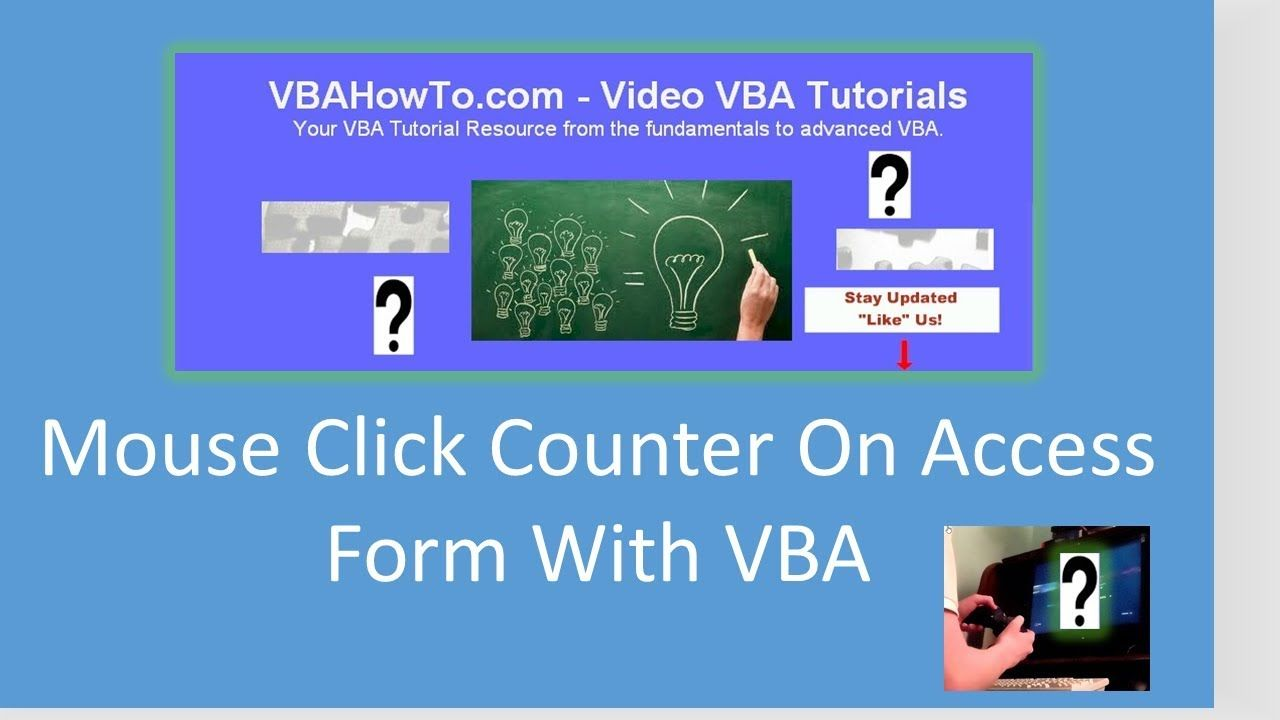 Mouse Click Counter On Access Form Click counter