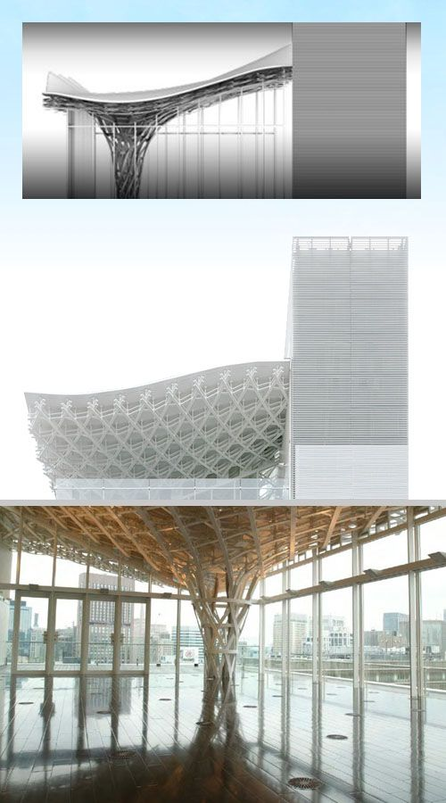 A Daily Dose Of Architecture Ae6 Undulating Roof Column