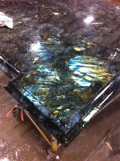 Lemurian Blue Granite Countertops Chunks Of Genuine Labradoritethats The Most Gorgeous Countertop Ive Ever Seen