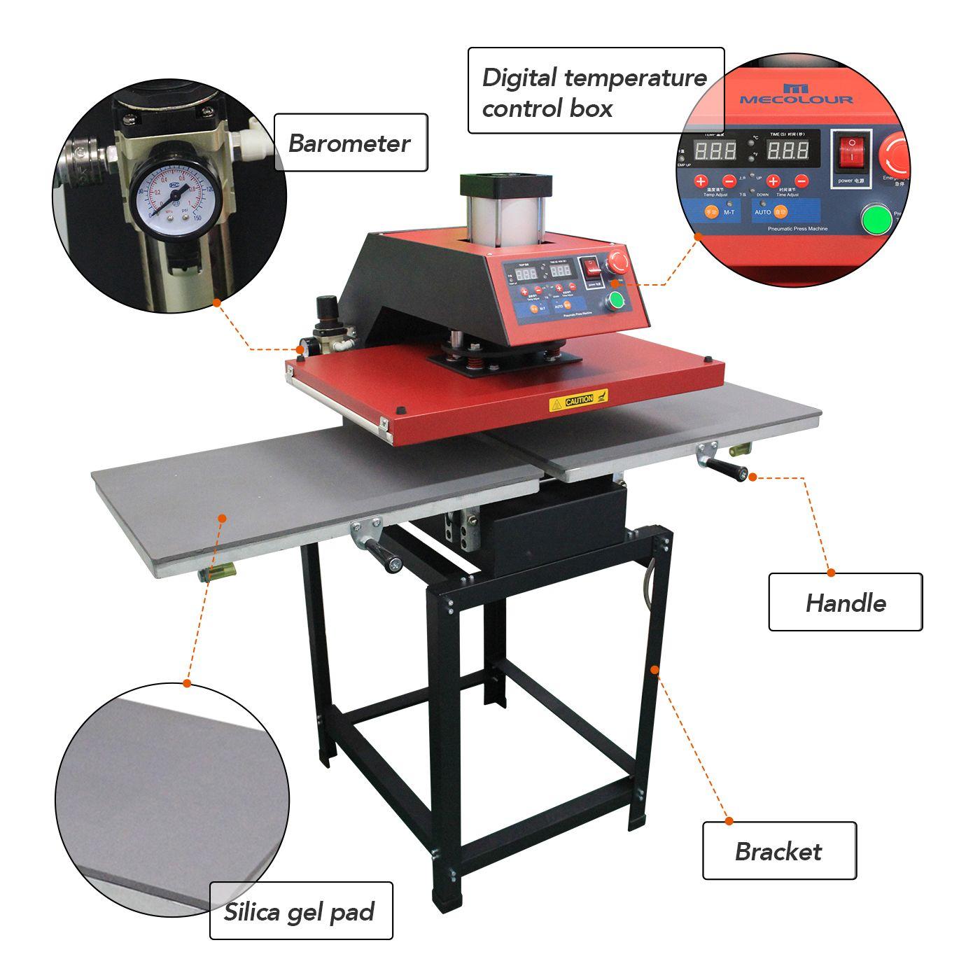 Mecolour Pneumatic Double Station Heat Press Machine Heat Press Machine Heat Press Heat