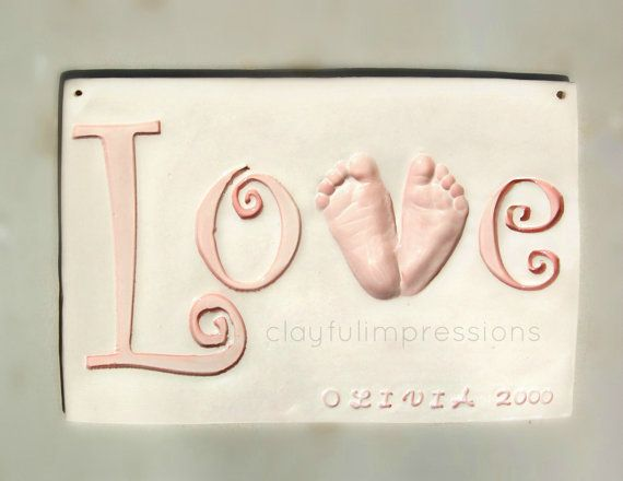 Baby Footprint Spelling Quot Love Quot Mold Included Newborn To 3