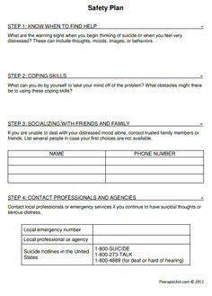 treatment plan forms mental health printable smart goals ...