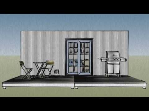 20 foot shipping container home - http://www.eightynine10studios.com/20-foot-shipping-container-home/