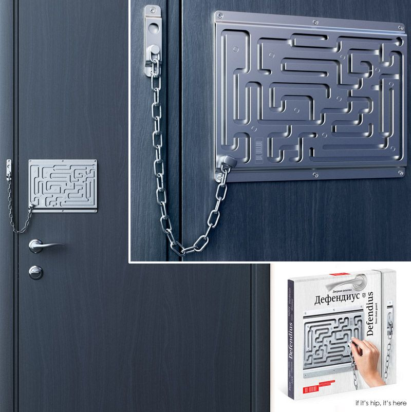 The Brilliant Maze Door Chain Lock Finally Comes To Life As A Real Product Door Chains Chain Lock Chain