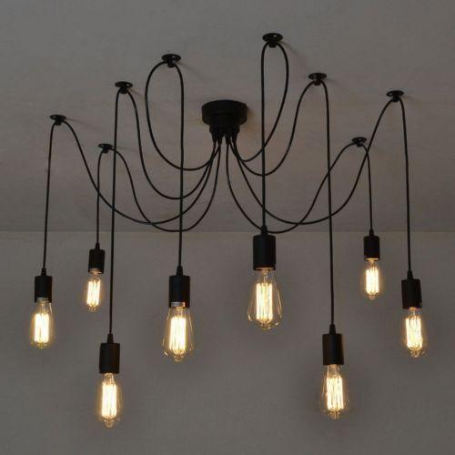 8 Lichte Retro Industrie Hangelampe Klassisch Pendelleucht Deckenlampe Antik De In Mobel Wohnen Beleuchtung Deckenlam Deckenlampe Lampen Deckenlampe Retro
