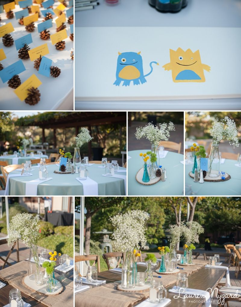 Paul & Rich Blue and yellow Reception details Balboa