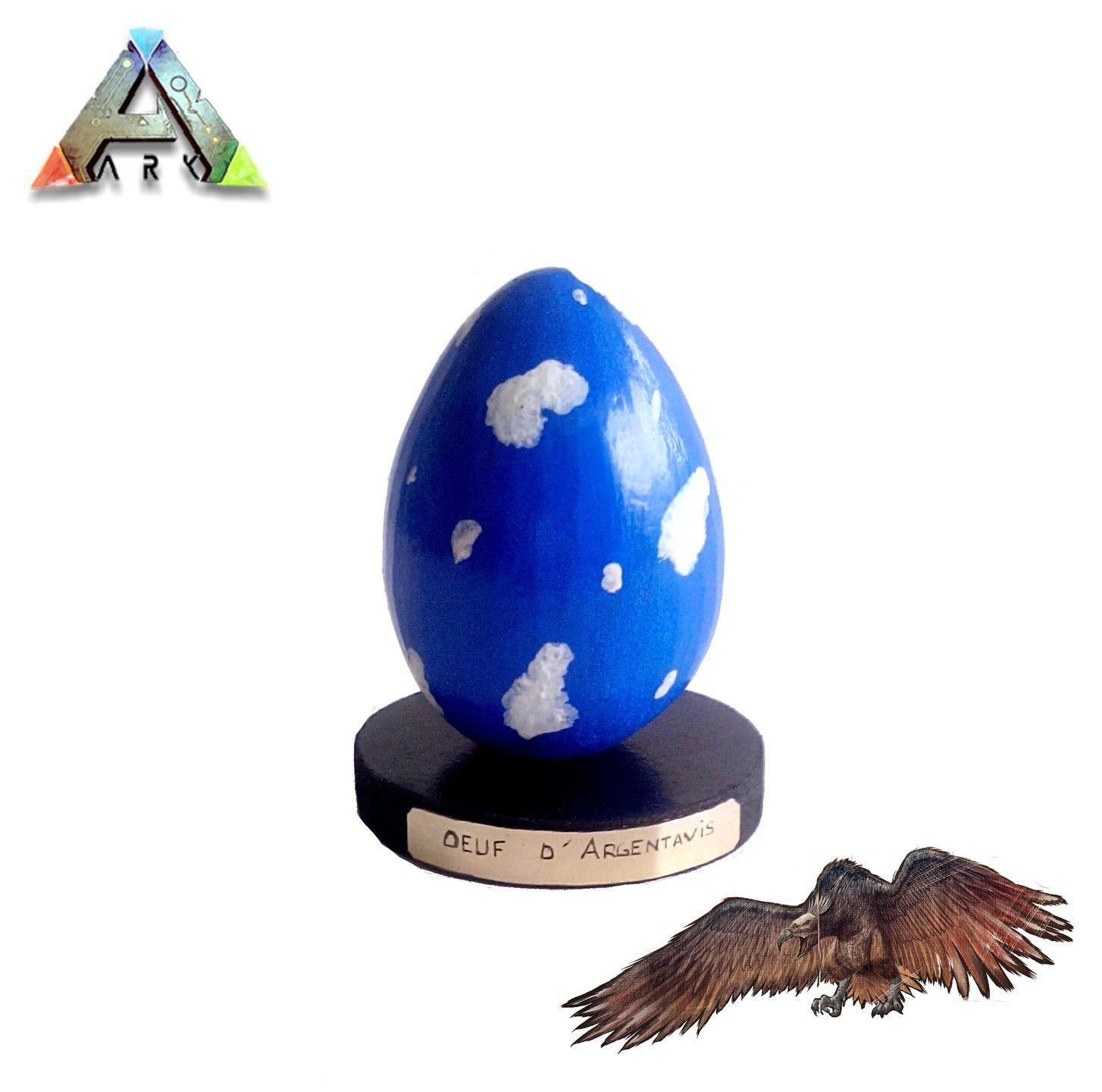 Ark Survival Evolved œuf Dargentavis En Argile 100 Naturels