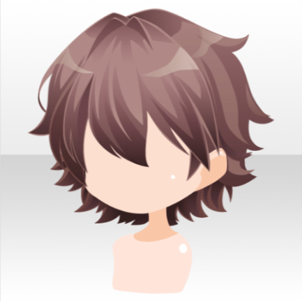 File Hairstyle Precious Wing Short Hair Ver A Brown Png Anime Boy Hair Boy Hair Drawing Chibi Hair