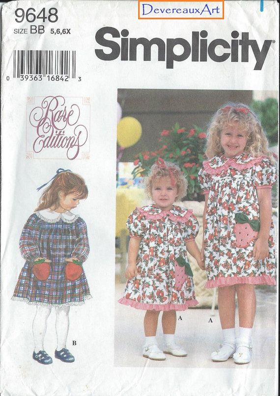 1995 Simplicity Rare Editions Pattern 9648 UNCUT By