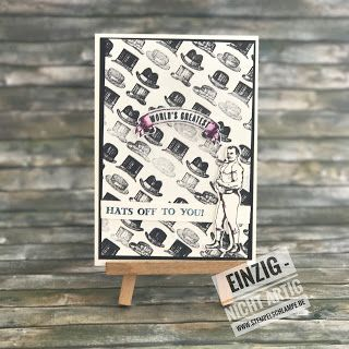 """Männer  Ja mal wieder eine ohne-Schmetterling-ohne-Blumen-ohne-Farben-Karte ... gemeinhin als Männerkarte bezeichnet :-)   Ich habe hier absichtlich freigelassen wohin das """"Welt-größtes"""" besteht ... die meisten männlichen Egos können sich da zusammenreimen was sie gerade wollen :-) Übrigens: die Karte ist Teil einer Abstimmung wer für mich voten mag kann es gerne hier tun:http://bit.ly/KyliesMayHighlightsVoteforMeHere Hier vote ich mir dann für die Materialliste:"""