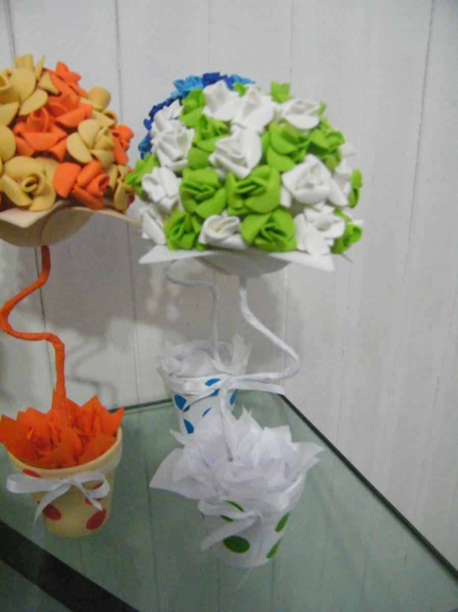 Topiarios con flores en goma eva maceta nro 10 13539 - Flore de goma eva ...