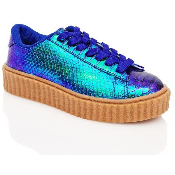 07c0cf080f8be Mermaid Feel It All Creeper Sneaker ( 38) ❤ liked on Polyvore featuring  shoes