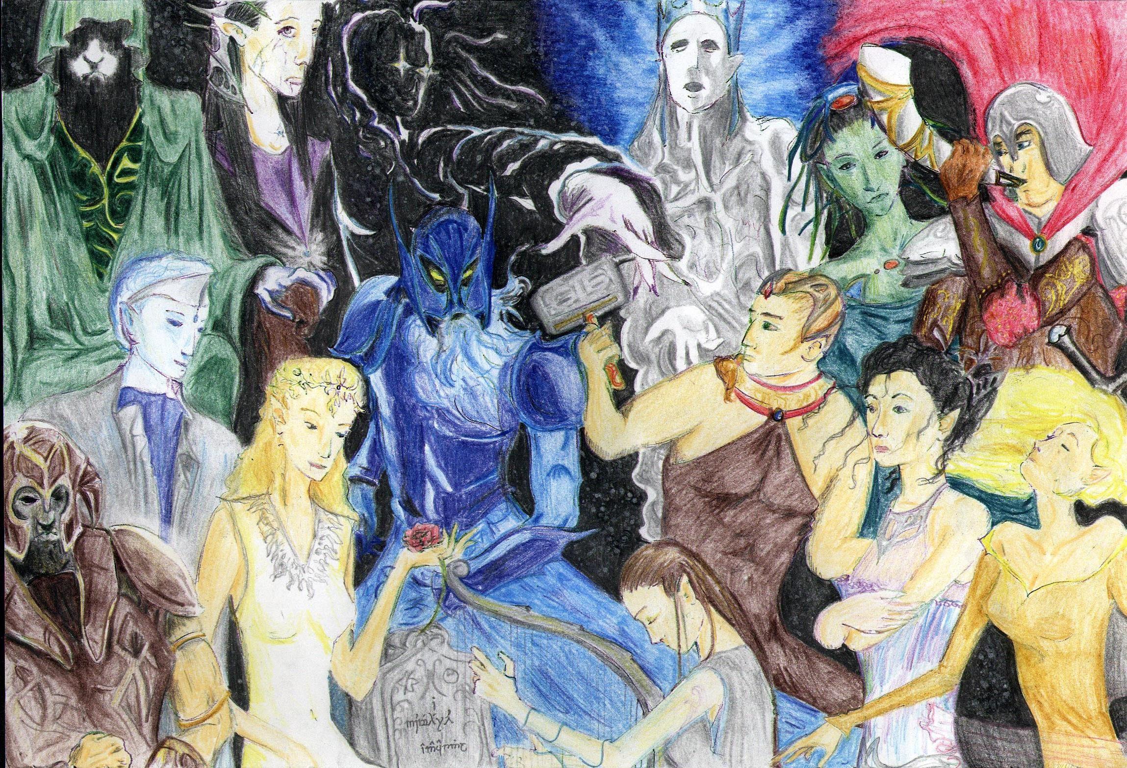 The Valar. Love this interpretation! Artwork, Tolkien