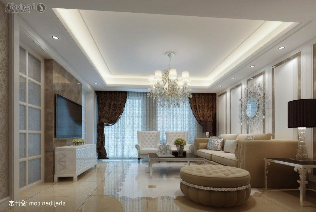 Latest gypsum ceiling designs in gypsum ceiling - Simple ceiling design for living room ...