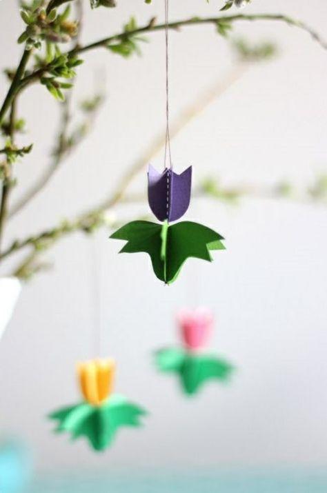 aus fr hlingsblumen basteln sie herrliche deko f r ihr zuhause ostern pinterest basteln. Black Bedroom Furniture Sets. Home Design Ideas