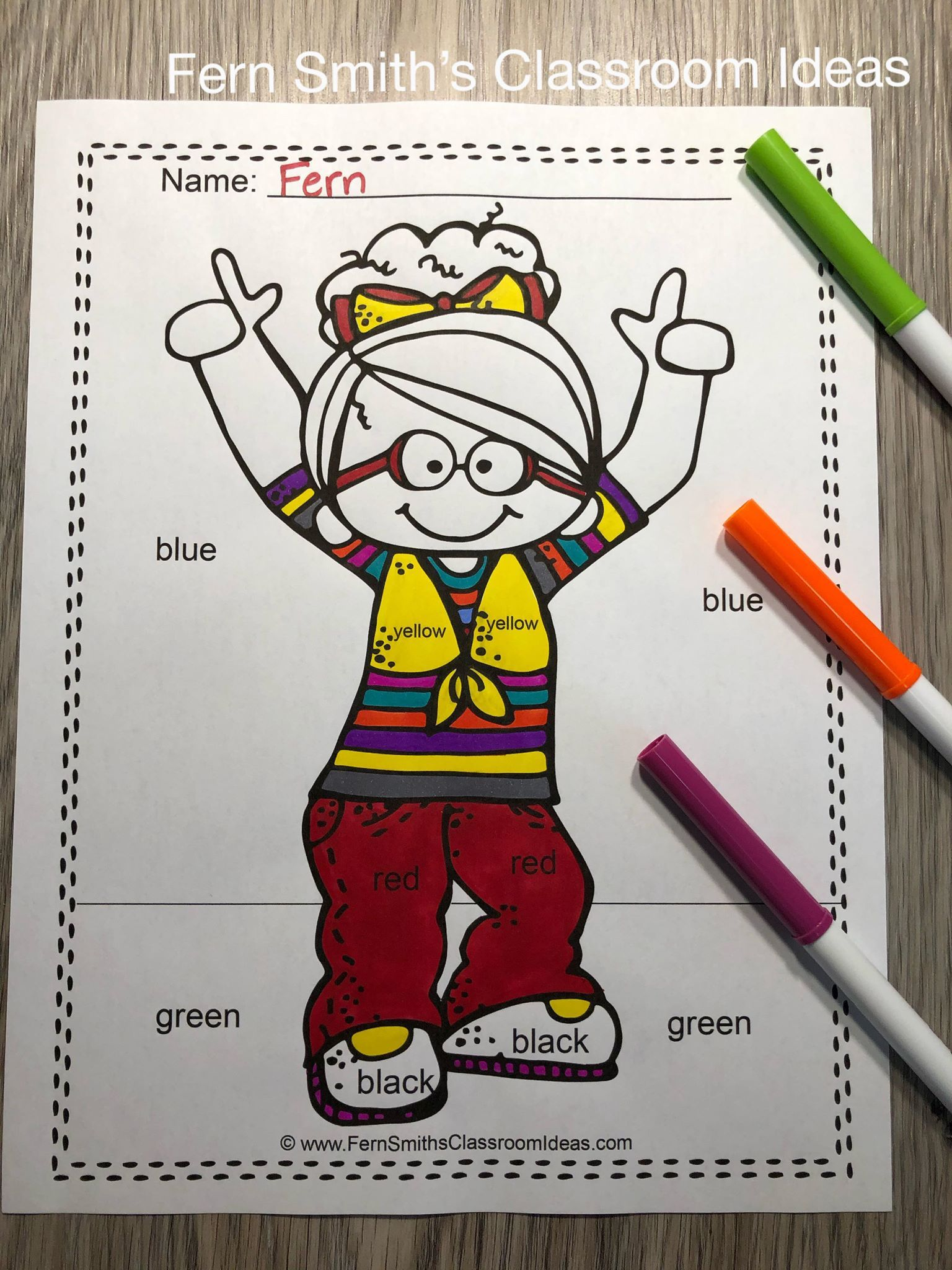 Kindergarten Color By Code Know Your Numbers And Your