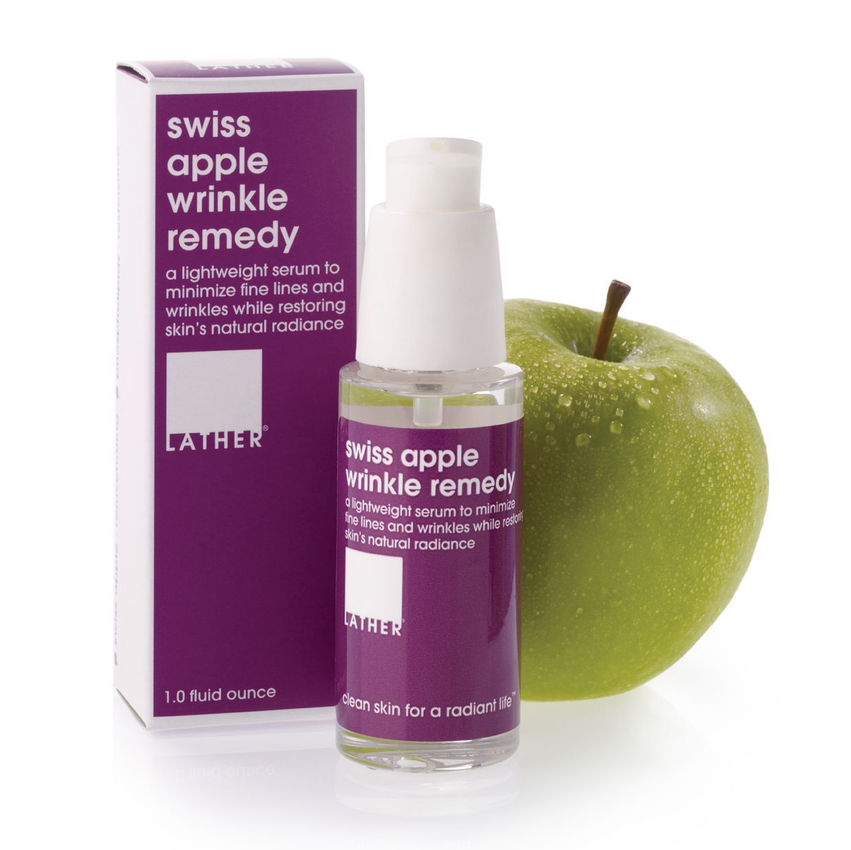 This anti-aging treatment is formulated with stem cells from the rare Swiss apple Uttwiler Spatlauber which, being particularly rich in phyto-nutrients, proteins and long-living cells, is known for its long life and excellent storability. The internal fluid of these plant cells contain components which contribute to the visible decrease of wrinkle depth and promote the self-renewal capacity of the skin, helping to preserve a youthful look and vitality. Paraben-free. www.lather.com