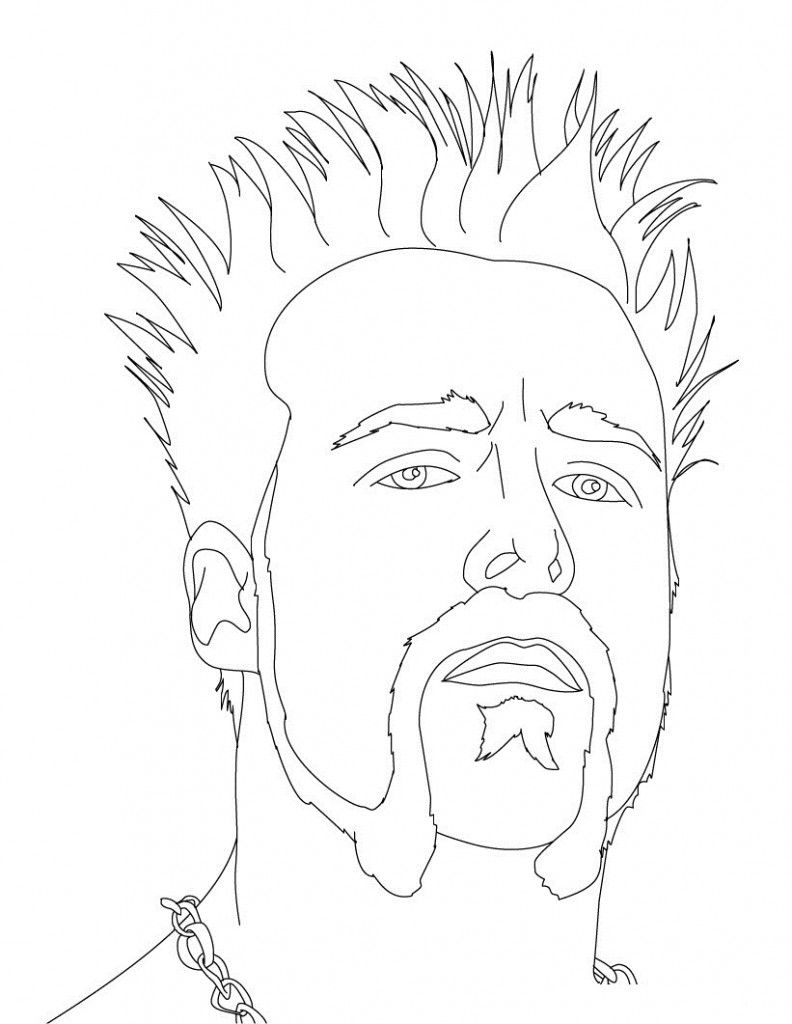 This is an image of Enterprising Wwe Printable Coloring Pages