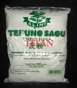 Tepung Sagu Sago Flour Dibuat Dari Sari Pati Batang Pohon Sagu Sejenis Palm Mirip Tepung Aci Tapi Lebih Kering Selain Dipakai Sebaga Dengan Gambar Makanan Tepung Petani