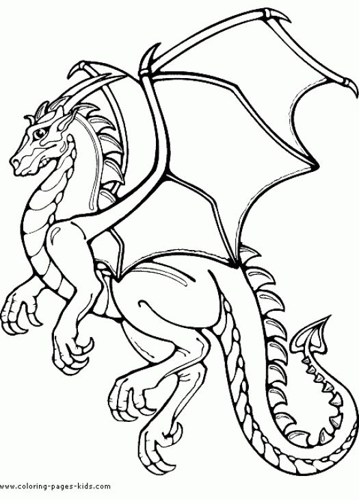 Medieval Dragon Coloring Pages on a budget
