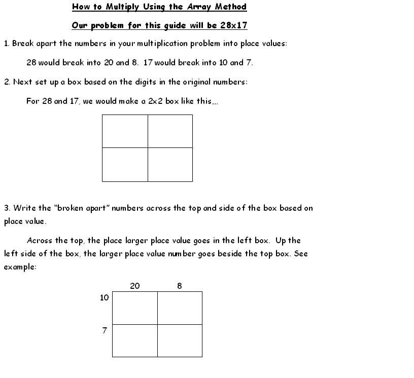 Mathhow to do multiplication arrays mrs lemasters 5th