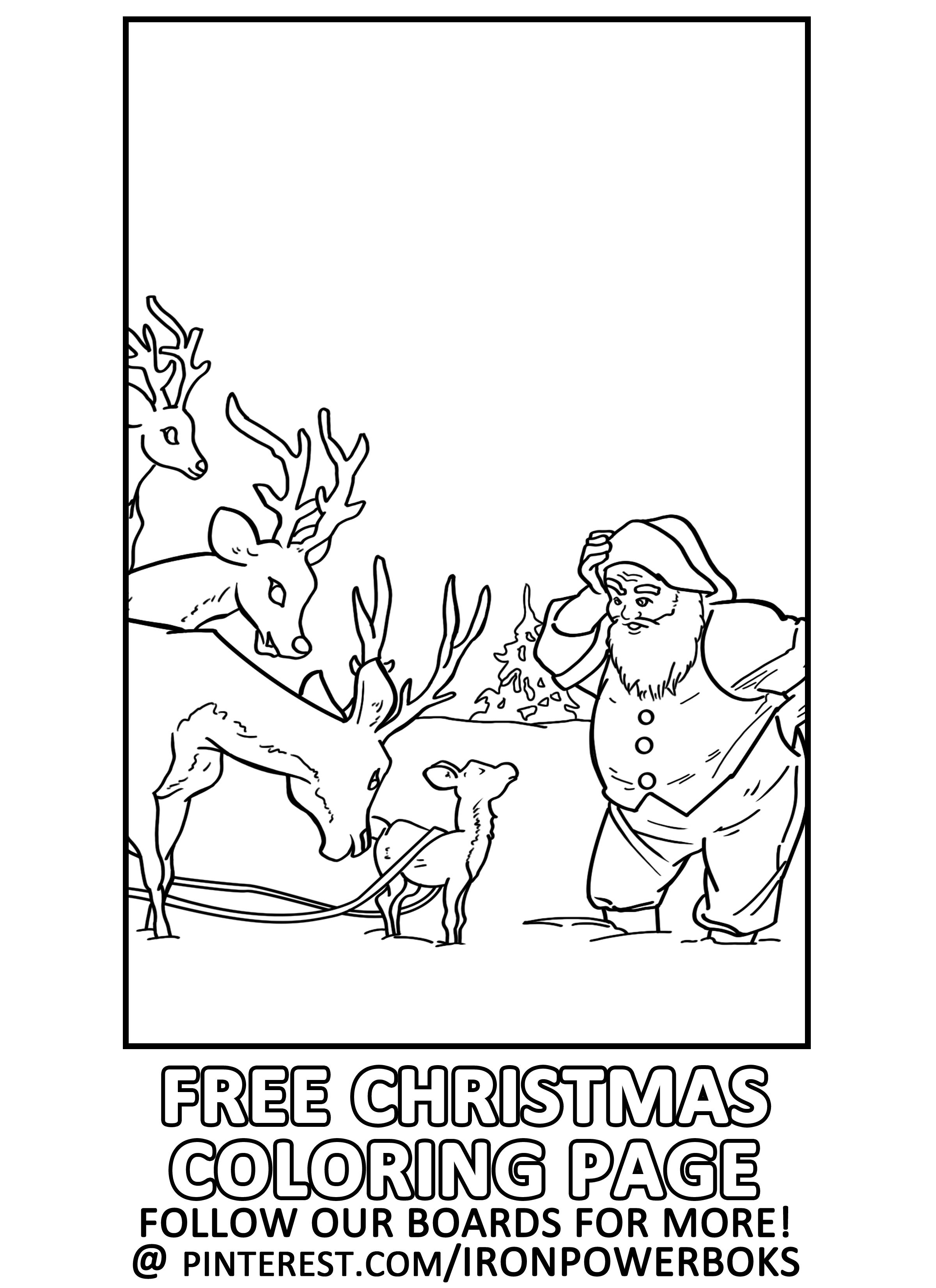 FREE Christmas Coloring Page for Kids | Follow @ironpowerbooks for ...