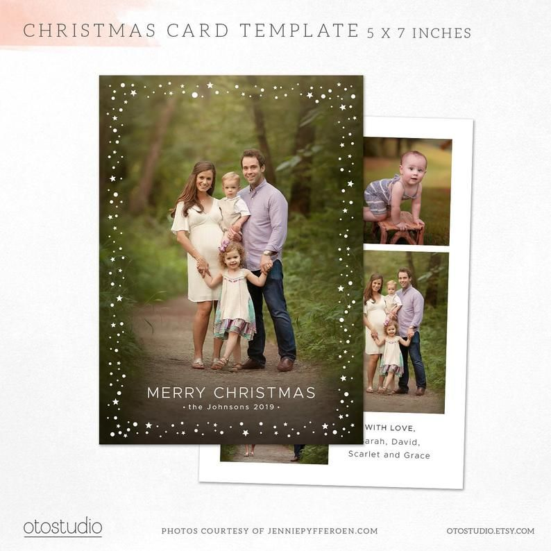 Christmas Card Template Holidays Photo Card Merry Christmas Etsy Christmas Photo Card Template Family Christmas Cards Christmas Card Pictures