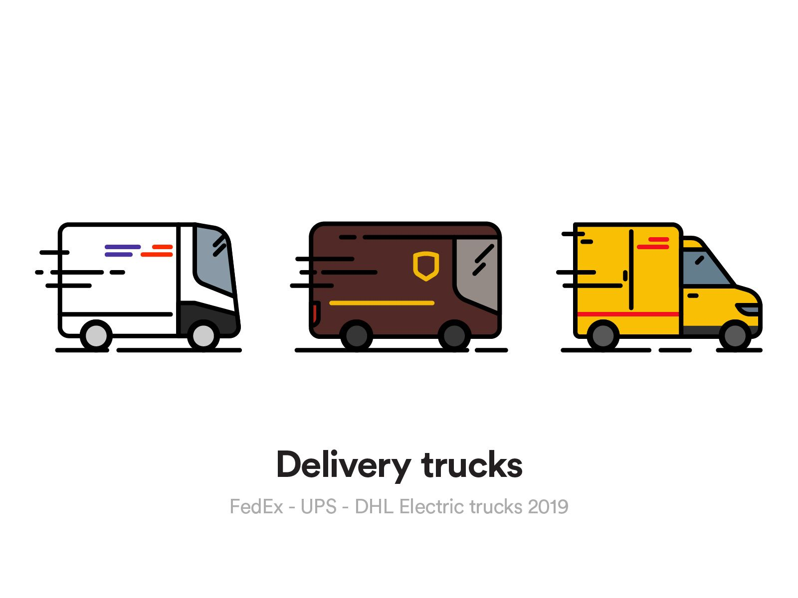 Ups Electric Delivery Van Electric Truck Electric Cars Vehicles
