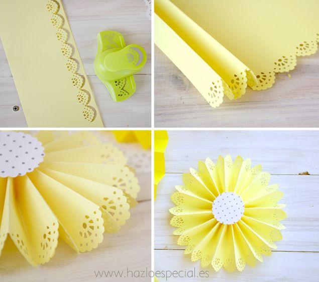 Abanicos de papel calados tutoriales pinterest - Abanicos para decorar ...