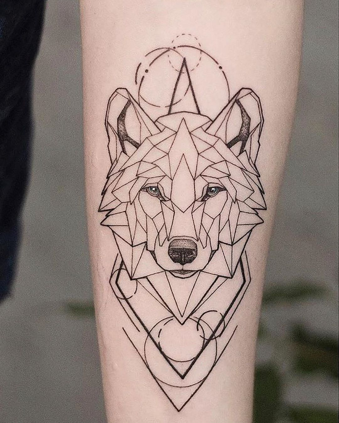 Wolf Tattoo Soda Sodatattoo Saigontattoo Vietnamtattoo Blackwork Blacktattoo Blac Geometric Wolf Tattoo Geometric Tattoos Men Geometric Animal Tattoo