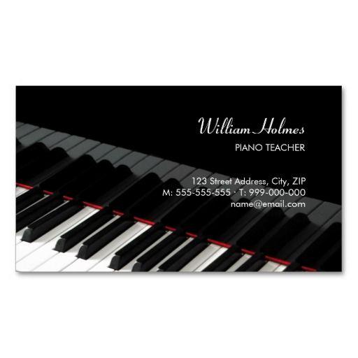 Klavier Befestigt Musikindustriekarte Visitenkarte Zazzle