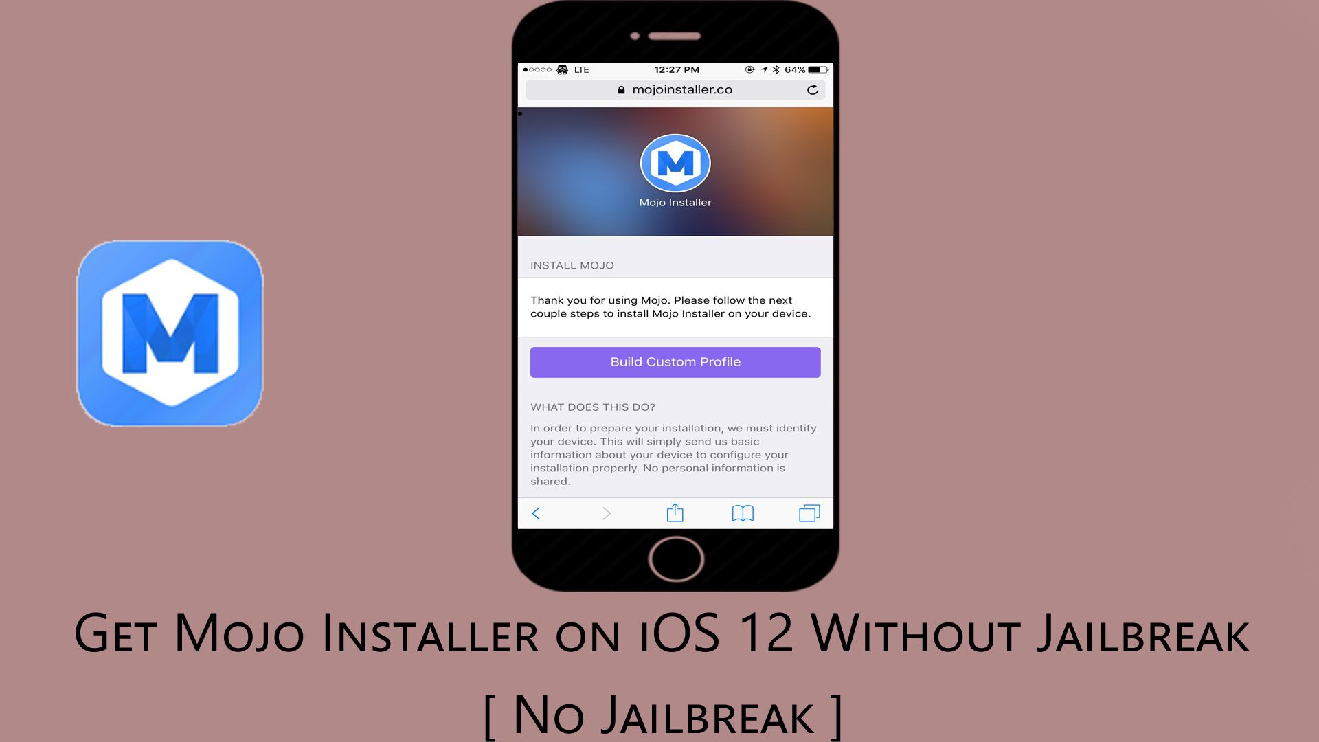 How to get mojo installer on your iOS 12 device without