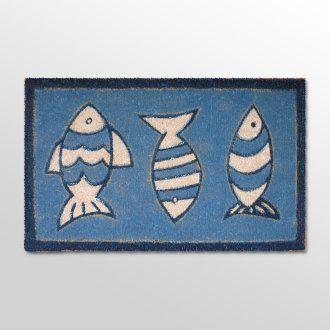 three fish doormat - wonderful for coastal home