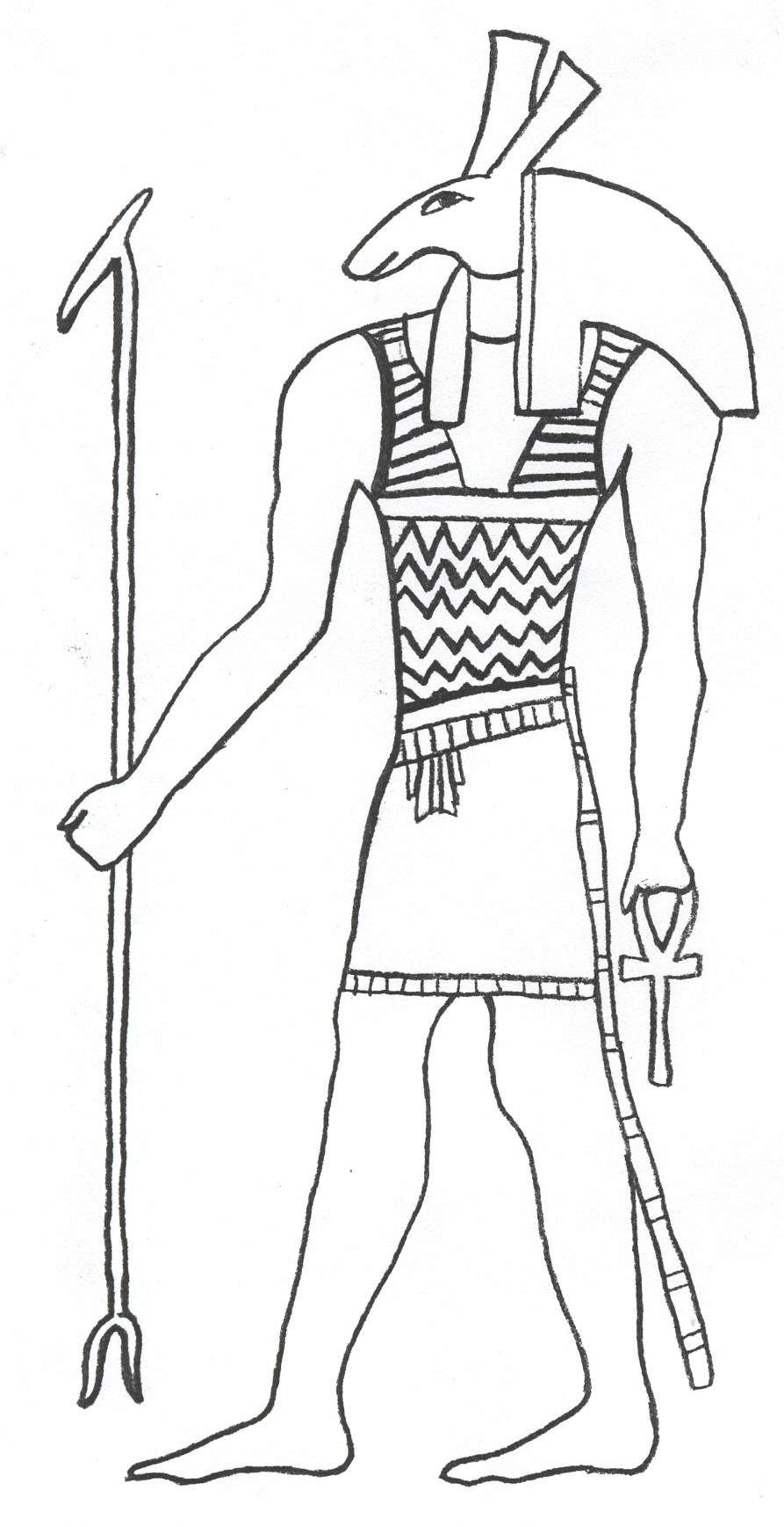 egypt free coloring pages - photo#3