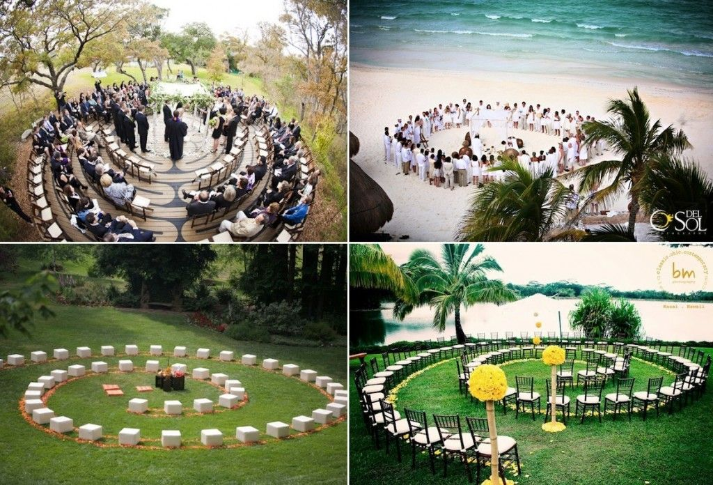 Brown Chairs Outdoor Ceremony Decorations: Seating Arrangements For An Outdoor Wedding