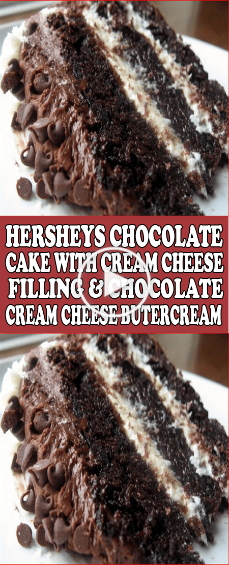 Hersheys Schokoladen Kuchen Mit Frischkase Fullung Chocolate Cream Cheese Butter In 2020 Hershey Chocolate Cakes Cake With Cream Cheese Chocolate Cream Cheese