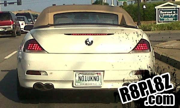 Funny License Plates Bmw