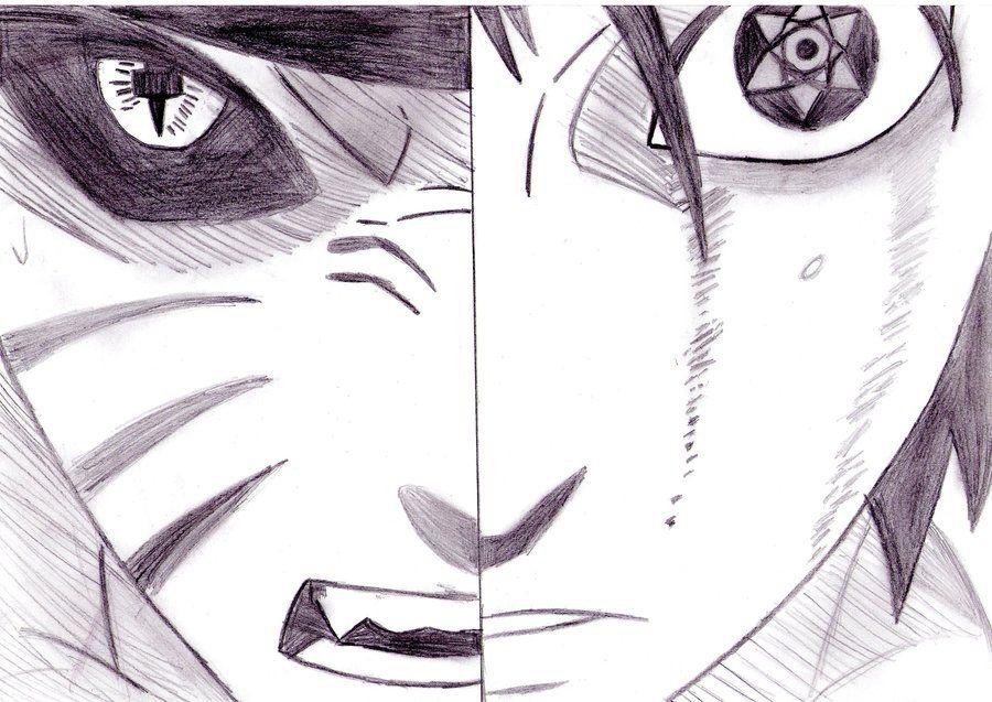 Naruto Drawings Sasuke Naruto Vs Sasuke By Kamisama66 With