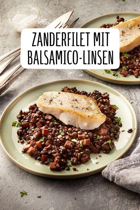 Zanderfilet mit Balsamico-Linsen #fischrezepte